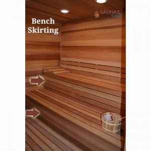 1 x 4 Sauna Bench Skirting