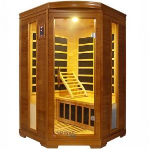 2 Person Corner Carbon Fiber Infrared Sauna