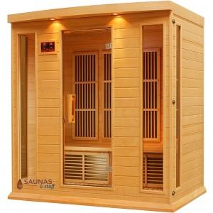 3 Person Bench Carbon Fiber Infrared Sauna