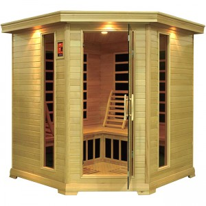 4-5 Person Corner Carbon Fiber Infrared Sauna
