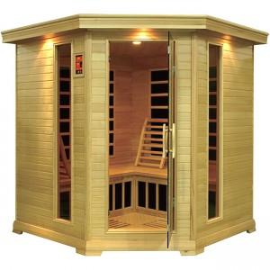 4-5 Person Corner Carbon Fiber Infrared Sauna