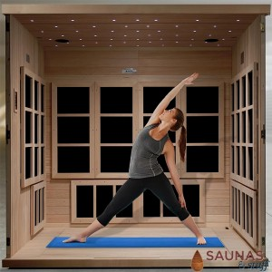 6 Person Sauna with Carbon Fiber Infrared Heaters