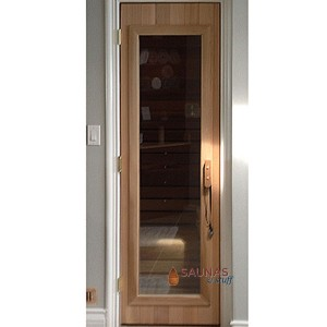 Standard Cedar Sauna Room Door