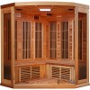 3 Person Corner Red Cedar Infrared Sauna - Interior