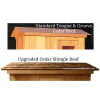 Standard and Cedar Shingle Roof Options