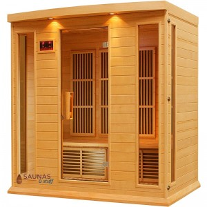 3 Person Bench Carbon Fiber Infrared Sauna
