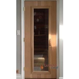 ADA Width Cedar Sauna Room Door