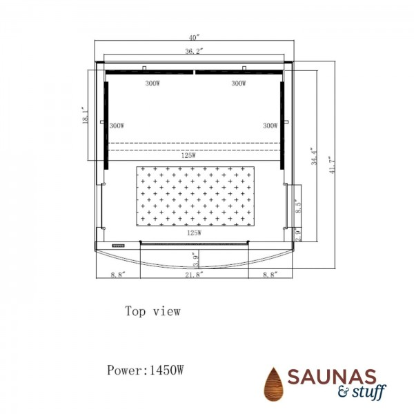 1 Person Ultra-Low-EMF Infrared Sauna - Dimensions