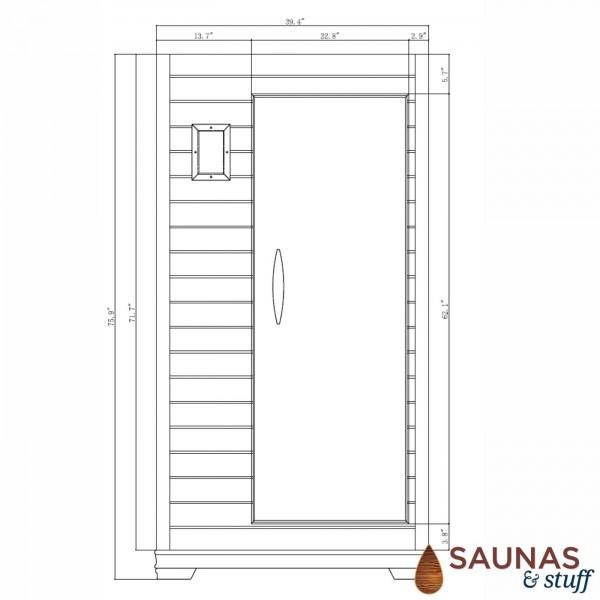 1 Person (E) Ultra-Low-EMF Carbon Fiber Infrared Sauna