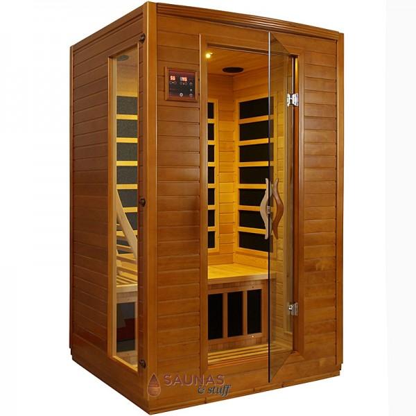 Dark Finish cabinet - 2 Person Carbon Fiber Infrared Sauna