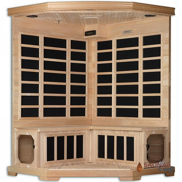Corner Carbon Fiber Infrared Sauna - Heater Locations