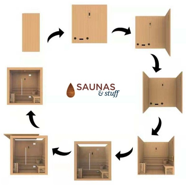 Essence 3 Person Traditional Sauna Assembly