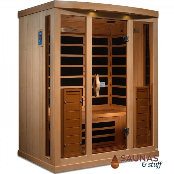 3 Person Bench Infrared Sauna w/ Ultra-Low EMF Carbon Fiber Heaters