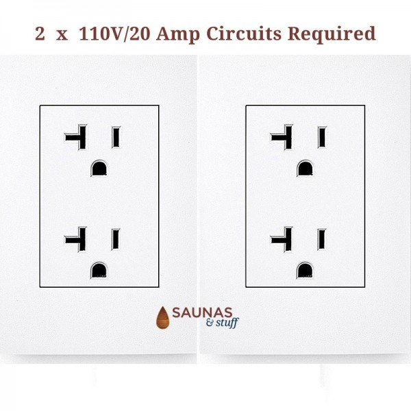 2 x 110V/20 Amp Circuits Required
