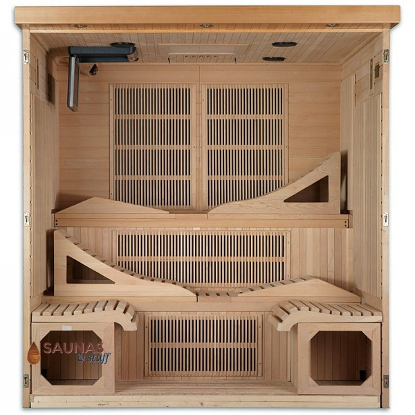 6 Person Sauna - Spacious Interior
