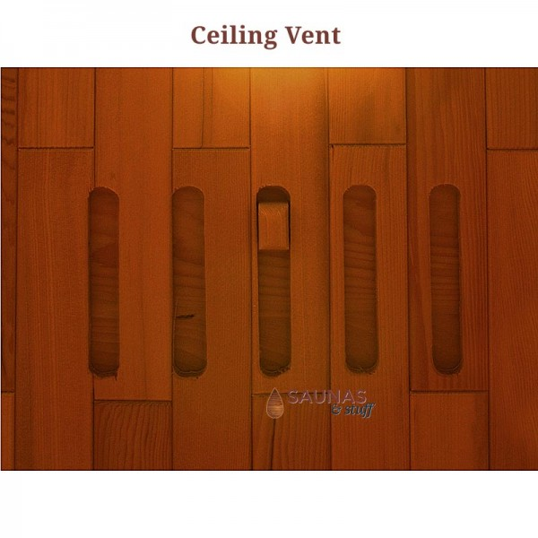 Built in Ceiling Vent (no other ventilation required)
