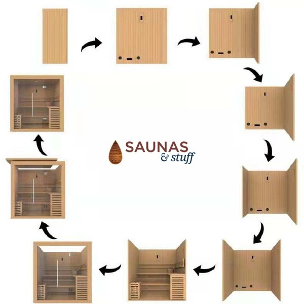 Essence 6 Person Traditional Sauna Assembly