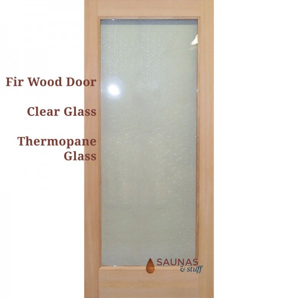 "3' x 6'8"" Standard Sauna Room Door - Fir Wood"