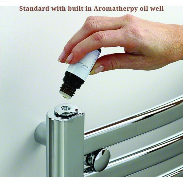 Aromatherpy oil well standard on Towel Warmers