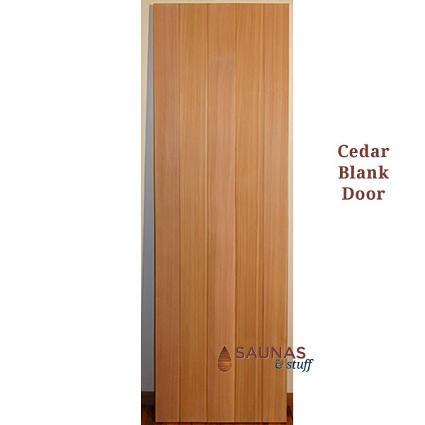 "2' x 6'8"" Western Red Cedar Sauna Room Door - Blank, No Glass"
