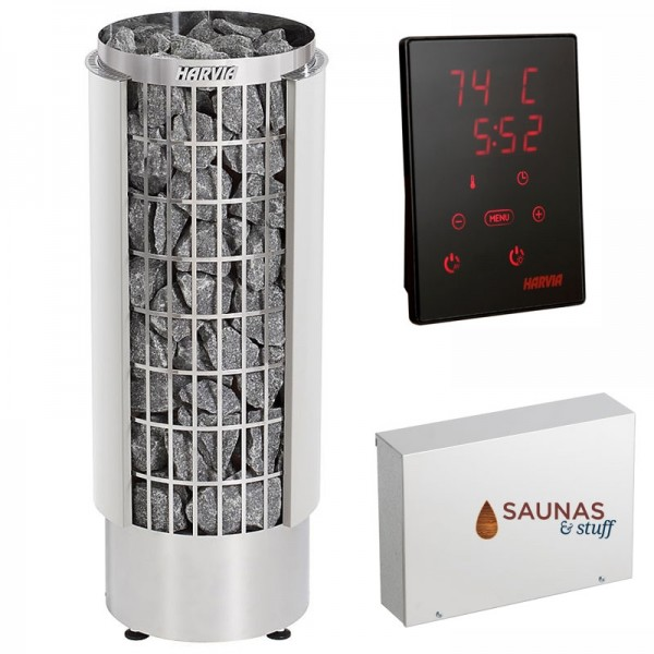 Harvia Cilindro Heater with Xenio Control and Power Supply