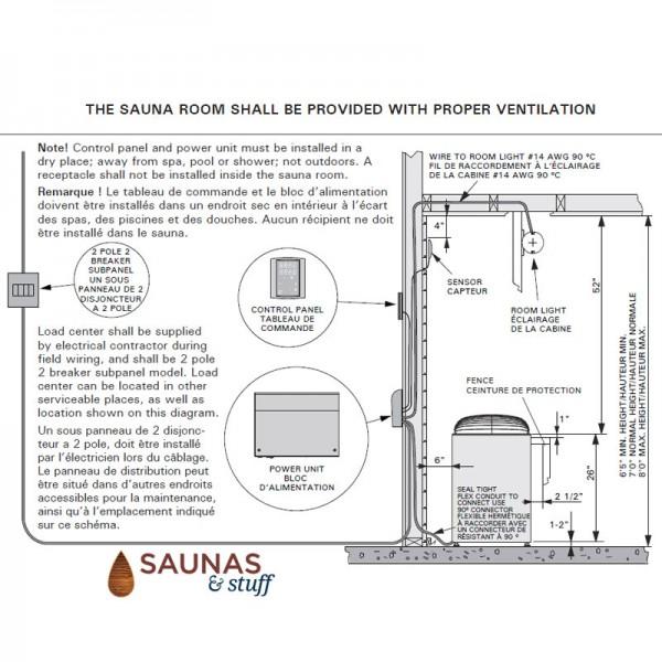 General Sauna Club Heater Installation
