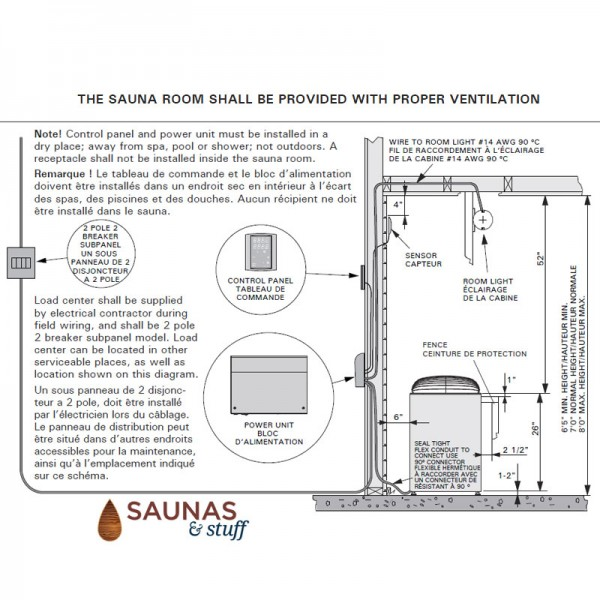 General Sauna Club Heater Installation