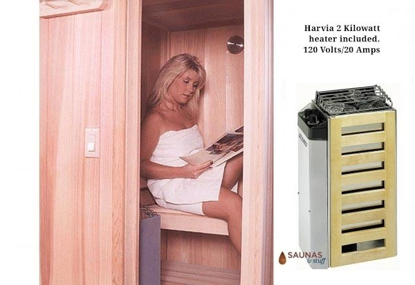 E-Z Portable Sauna with 110 Volt Hot Rock Heater