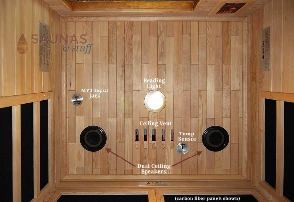 Infrared Sauna Ceiling Features