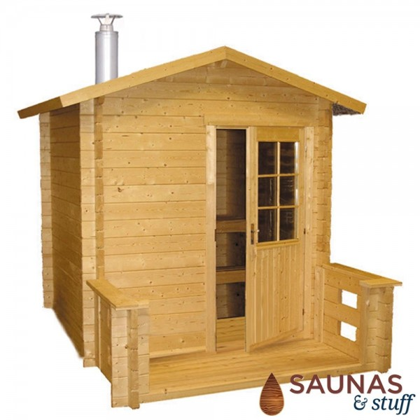 Harvia Kuikka Outdoor Wood Burning Sauna Package