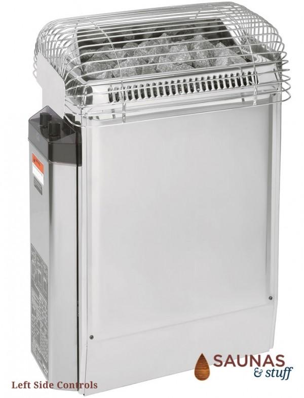 HARVIA TopClass 80W, 8.0 Kilowatt Electric Sauna Heater, Left Side Controls