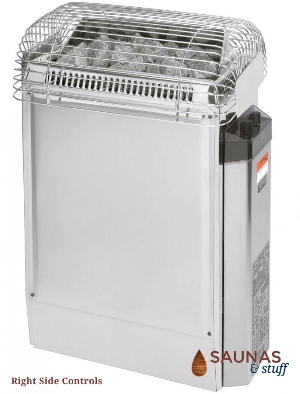 HARVIA TopClass 80W, 8.0 Kilowatt Electric Sauna Heater, Right Side Controls