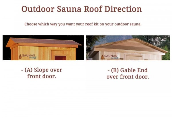 Outdoor Sauna Roof Direction