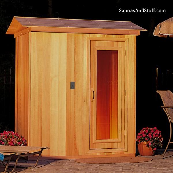 4' x 4' x 7' Pre-Built Outdoor Sauna