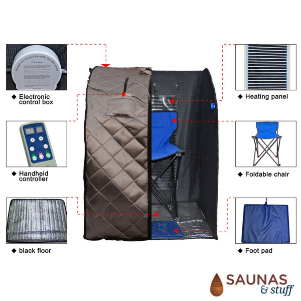 Portable Carbon Fiber Infrared Sauna - Features