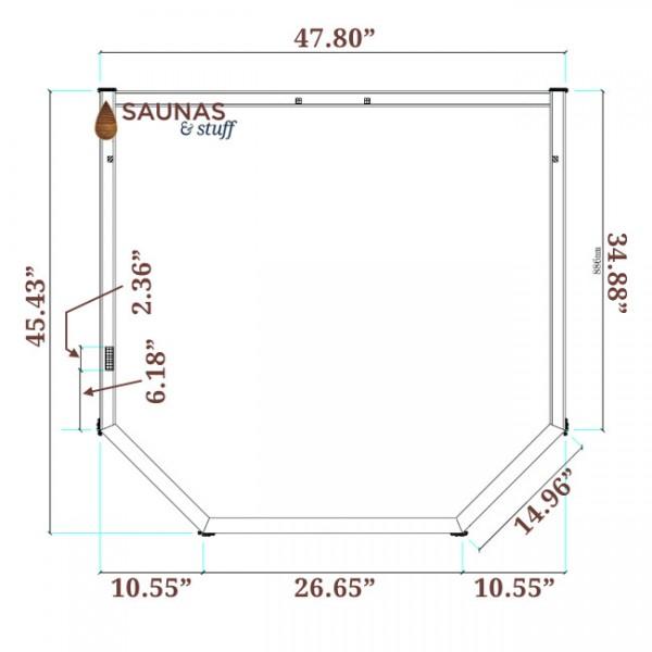 Solstice Infrared Sauna Dimensions