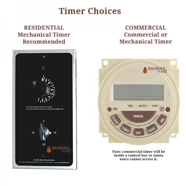 Gas Sauna Heater Timer Options