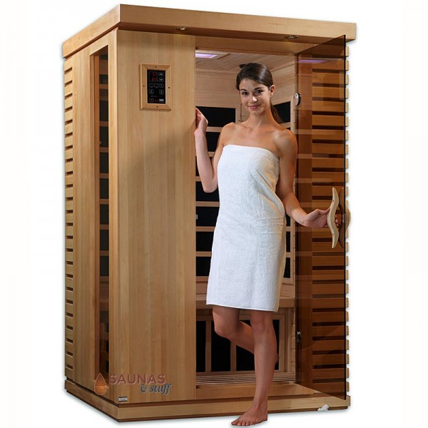 2 Person (C) Infrared Sauna with Ultra-Low EMF Carbon Fiber heaters