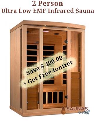2 Person Ultra Low EMF Infrared Sauna Coupon