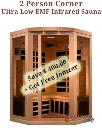 2 Person Ultra Low EMF Corner Infrared Sauna Coupon