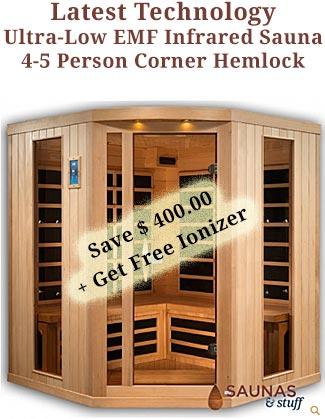 4-5 Person Corner Infrared Sauna Coupon