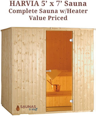 Harvia 5' x 7' Sauna Kit