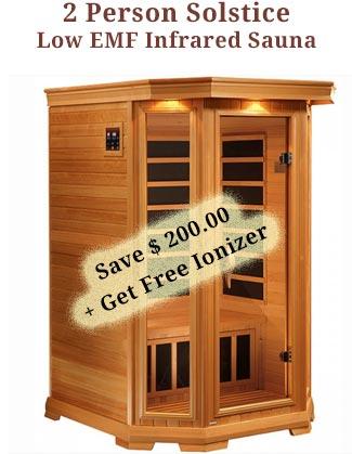 2 Person Solstice Infrared Sauna Coupon