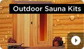 Outdoor Cedar Home Sauna Kits